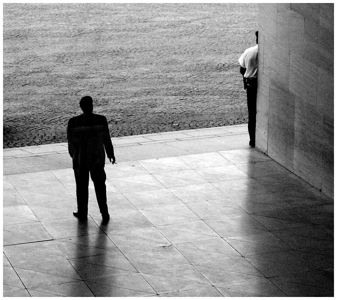 Figures in an Urban Landscape - Washington National Gallery