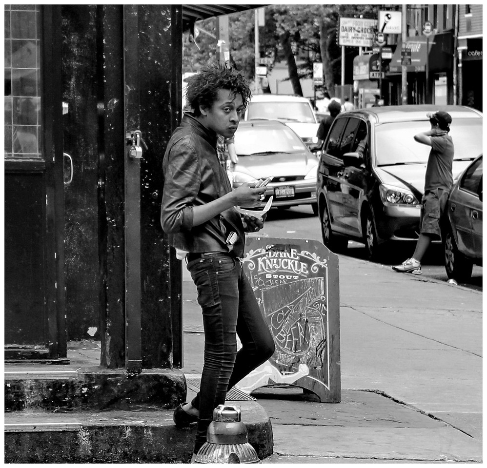 Young Hendrix? Or Ballad of a Thin Man. East Village New York