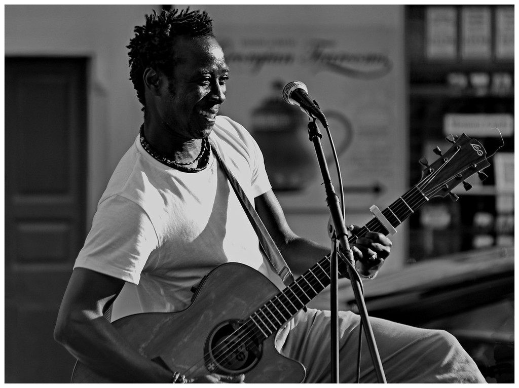 Amadou Diagne performing in Bath