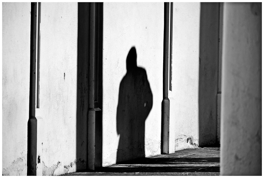 Shadow figure - Bath Street