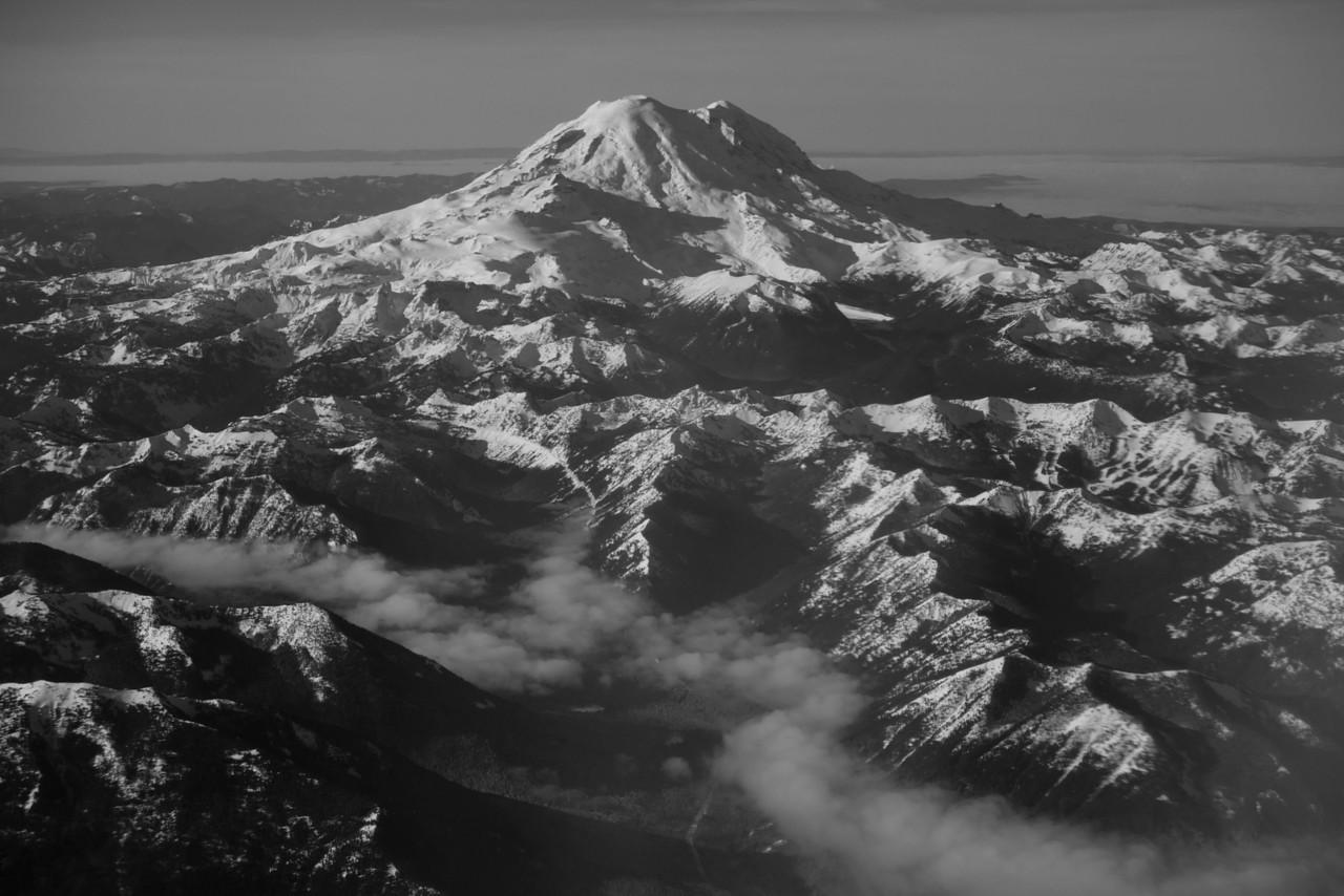 Mt Rainier B&W 019
