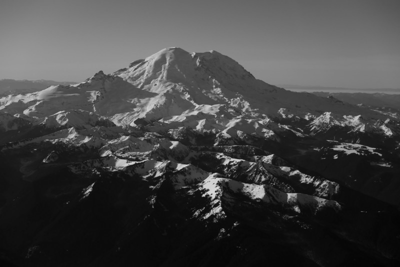 Mt Rainier B&W 020