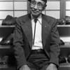 Keiseki Hirotsu 1903-1987; Founder and first instructor of Kashu Suiseki Kai, first instructor of San Francisco Suiseki Kai; Photo taken for the Golden Statements bonsai magazine in 1984.