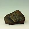 "Hideko Metaxas collection: Base by Mas Nakajima - 2008; W 7"" x D 6"" x H 5""; Klamath river stone on walnut base"