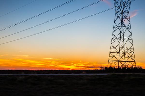 Speeding by the Sunset