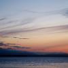 Waxing Crescent 3.5 Day Old Moon Over Useless Bay, WA