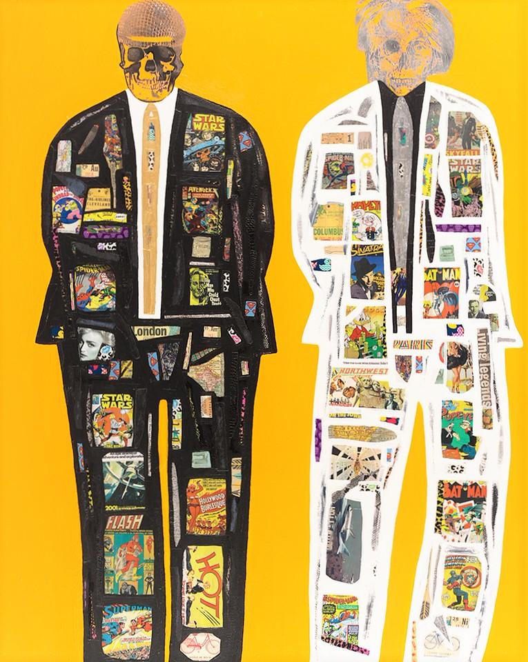 Super Men Series #3 - Spectre - 60x48 - mixed media on canvas 2015.