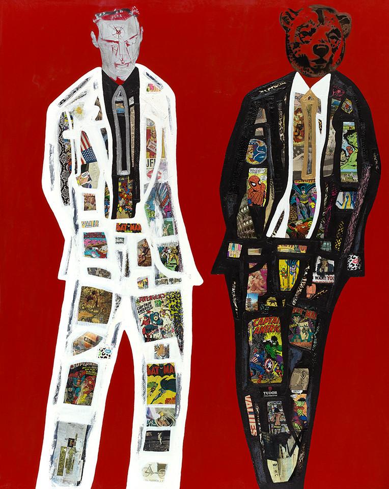 Super Men Series #1 - Desire - 60x48 - mixed media on canvas 2015.