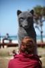 Unedited image - Wolf, Ivan Lovatt - Swell Sculpture Festival 2014, Visit 1; Curumbin, Gold Coast, Queensland, Australia; 17 September 2014. Photos by Des Thureson