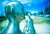 "L'Artiste, by Frederic Berjot - Swell Sculpture Festival, Pacific Parade, Currumbin Beach, Gold Coast, Australia; 15 September 2010. -  <a href=""http://www.swellsculpture.com.au"">http://www.swellsculpture.com.au</a>. (Alternate Processing): Lightroom Preset: ""Bleach+Bypassed""."