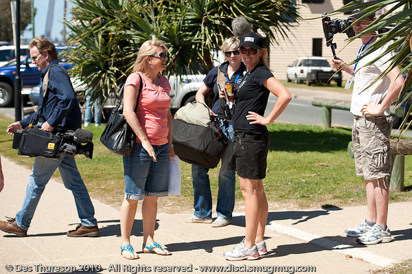 """Stacey Thomson (formerly 'Ranger Stacey') visits the Swell Sculpture Festival, Pacific Parade, Currumbin Beach, Gold Coast, Australia; 15 September 2010. -  <a href=""""http://www.swellsculpture.com.au"""">http://www.swellsculpture.com.au</a>"""