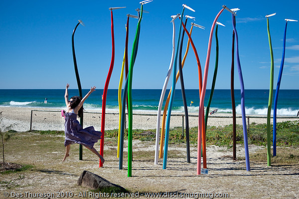 """Fiddle Sticks, by Col Henry - Swell Sculpture Festival, Pacific Parade, Currumbin Beach, Gold Coast, Australia; 15 September 2010. -  <a href=""""http://www.swellsculpture.com.au"""">http://www.swellsculpture.com.au</a>"""