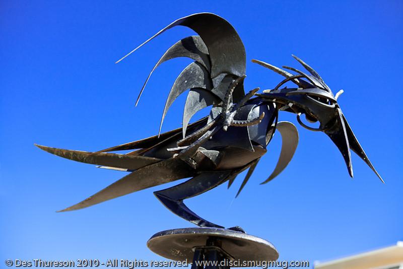 "Hugin (Odin's Raven), by Brendan Hackett - Swell Sculpture Festival, Pacific Parade, Currumbin Beach, Gold Coast, Australia; 15 September 2010. -  <a href=""http://www.swellsculpture.com.au"">http://www.swellsculpture.com.au</a>"