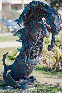 God of the Sea with Attitude, by Jennie Scott - Swell Sculpture Festival, Pacific Parade, Currumbin Beach, Gold Coast, Australia; 15 September 2010. - www.swellsculpture.com.au
