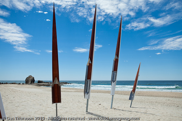 """Where the River Meets the Sea, by Brendan Morse and Stefan Purcell - Swell Sculpture Festival, Pacific Parade, Currumbin Beach, Gold Coast, Australia; 15 September 2010. -  <a href=""""http://www.swellsculpture.com.au"""">http://www.swellsculpture.com.au</a>"""