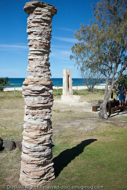 Pinnacle, by Stephen Newton - Swell Sculpture Festival, Pacific Parade, Currumbin Beach, Gold Coast, Australia; 15 September 2010.