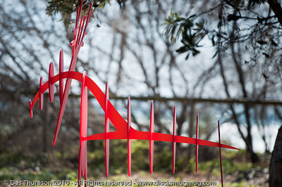 RedDer, by Shelly Kelly - Swell Sculpture Festival, Pacific Parade, Currumbin Beach, Gold Coast, Australia; 15 September 2010. - www.swellsculpture.com.au