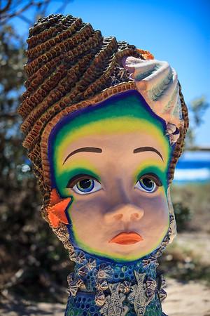 Vertumnus, Monte Lupo - Swell Sculpture Festival 2014, Visit 1; Curumbin, Gold Coast, Queensland, Australia; 17 September 2014. Photos by Des Thureson
