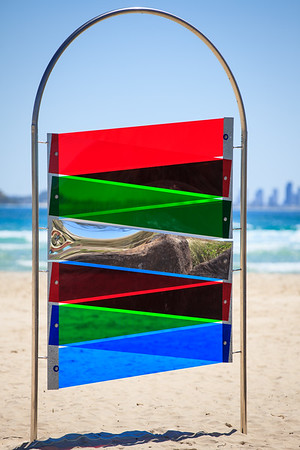 Total Internal Reflection, Vanessa Stanley - Swell Sculpture Festival 2014, Visit 1; Curumbin, Gold Coast, Queensland, Australia; 17 September 2014. Photos by Des Thureson