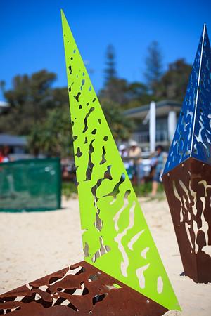 Nurture, Alex Polo, Michael Dowling - Swell Sculpture Festival 2014, Visit 1; Curumbin, Gold Coast, Queensland, Australia; 17 September 2014. Photos by Des Thureson