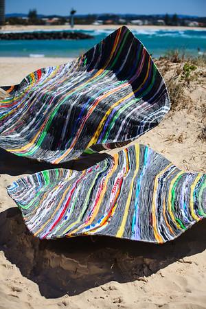 Plastic Strings, Lauren Gray - Swell Sculpture Festival 2014, Visit 1; Curumbin, Gold Coast, Queensland, Australia; 17 September 2014. Photos by Des Thureson