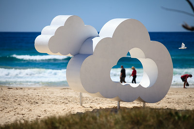 Air Filled Celluloid Cloud, Clayton Blake - Swell Sculpture Festival 2014, Visit 1; Curumbin, Gold Coast, Queensland, Australia; 17 September 2014. Photos by Des Thureson
