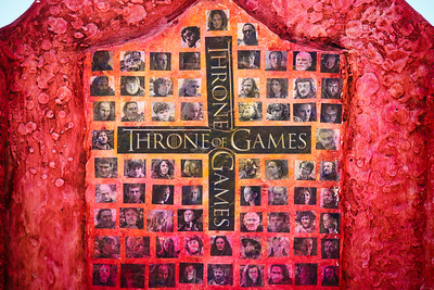Throne of Games, Scott Maxwell - Swell Sculpture Festival 2014, Visit 1; Curumbin, Gold Coast, Queensland, Australia; 17 September 2014. Photos by Des Thureson