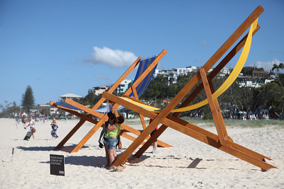 With You, Katie and Derek Hooper, Katie Hooper - Swell Sculpture Festival 2016, Visit 1; Currumbin, Gold Coast, Queensland, Australia; 12 September 2016. Photos by Des Thureson - http://disci.smugmug.com