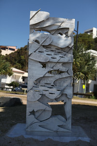 Flow of the Sea, Georgia Morgan - Swell Sculpture Festival 2016, Visit 1; Currumbin, Gold Coast, Queensland, Australia; 12 September 2016. Photos by Des Thureson - http://disci.smugmug.com