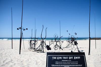 The Gym That Got Away - Swell Sculpture Festival 2016, Visit 1; Currumbin, Gold Coast, Queensland, Australia; 12 September 2016. Photos by Des Thureson - http://disci.smugmug.com