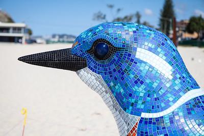 Kingfisher, Tim Elliot, Kate Millington - Swell Sculpture Festival 2016, Visit 1; Currumbin, Gold Coast, Queensland, Australia; 12 September 2016. Photos by Des Thureson - http://disci.smugmug.com