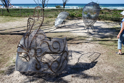 Life is a Masquerade, Mike Van Dam - Swell Sculpture Festival 2016, Visit 1; Currumbin, Gold Coast, Queensland, Australia; 12 September 2016. Photos by Des Thureson - http://disci.smugmug.com