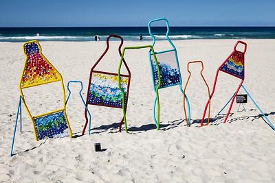 Message in a Bottle, Lauren Gray, Steven Hing - Swell Sculpture Festival 2016, Visit 1; Currumbin, Gold Coast, Queensland, Australia; 12 September 2016. Photos by Des Thureson - http://disci.smugmug.com