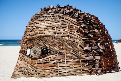 Earth Being, Kris Martin - Swell Sculpture Festival 2016, Visit 1; Currumbin, Gold Coast, Queensland, Australia; 12 September 2016. Photos by Des Thureson - http://disci.smugmug.com
