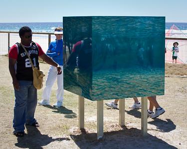 The Ocean Cubed, David Ardley - Swell Sculpture Festival, Pacific Parade, Currumbin Beach, Gold Coast, Queensland, Australia. Photos by Des Thureson:  http://disci.smugmug.com.