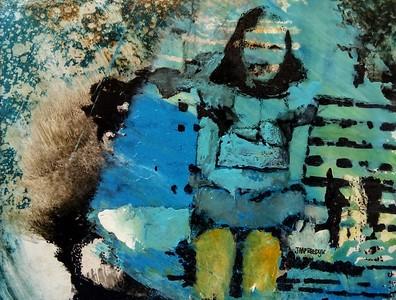 1934  acryl/inkten op papier.  14x18 cm  ingelijst 50x60cm € 275,00 JAAP REEDIJK