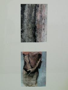 MUSIQUE €650,00 mixed media op papier , 50x70,  Kunstuitleen €12,50 per maand