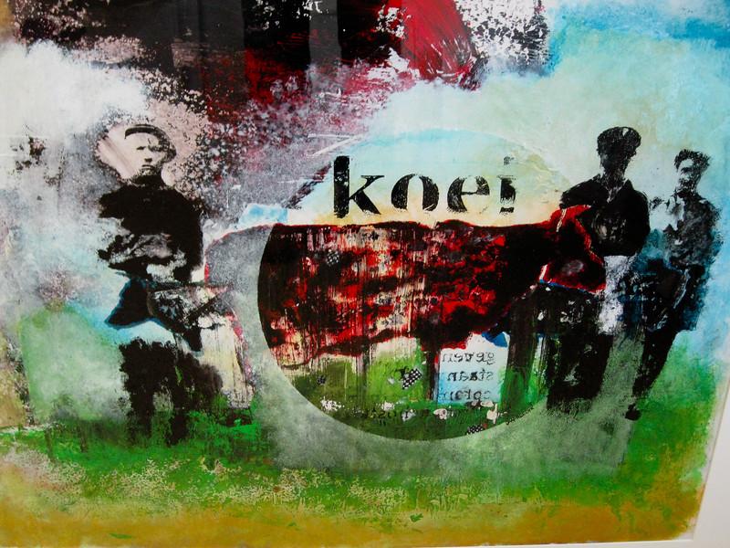 KOEI, Acryl op papier  100x70 €1400,00  Kunstuitleen €14,00 per maand