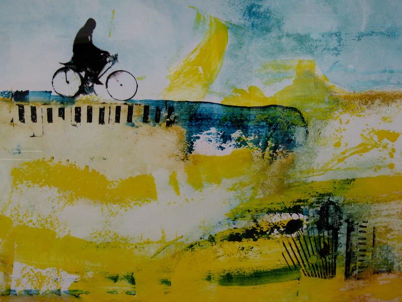 TOCHT Mixed media op papier,  100x70, €1400,00, Kunstuitleen €14,00 per maand www.jaapreedijk.com