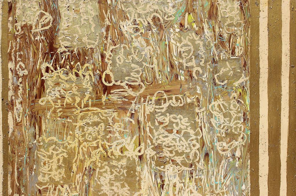 Tales of Copenhagen - #1 - 36x50 - mixed media on canvas.