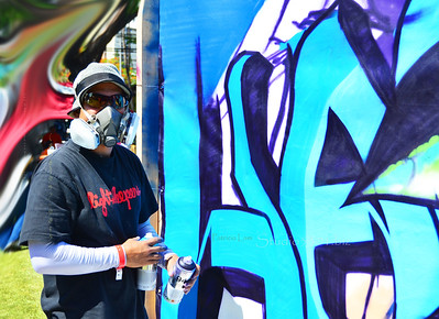 Graffiti contestant blue 616