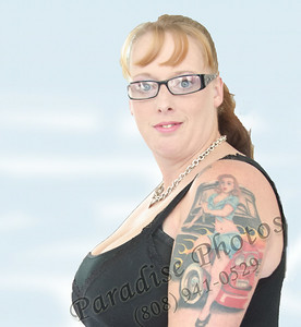 Kathy lady car tattoo arm 2990