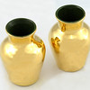 Gilt Vases made by Studio Ceramics, Braunton, North Devon, UK