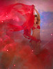 Nikki in a galaxy of red chiffon.  ©Tomás del Amo 2009