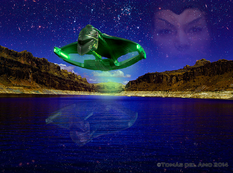 Romulan Warbird and her captain above Lake Powell.