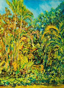 "©John Rachell  Title: The Garden April 9, 2006 Image: 30""w X 40""d Dated: 2006 Medium & Support: Oil paint on canvas Signed: LR Signature"