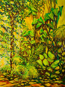 "©John Rachell  Title: The Garden March 15, 2006 Image: 36""w X 48""d Dated: 2006 Medium & Support: Oil paint on canvas Signed: LR Signature"