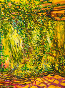"©John Rachell  Title: The Garden March 19, 2006 Image: 30""w X 40""d Dated: 2006 Medium & Support: Oil paint on canvas Signed: LL Signature"