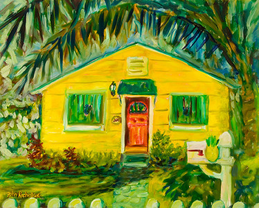 "© John Rachell Title: John Rice Home, March 14, 2006 Size: 30"" W by 24"" D Dated 2006 Medium and Suport: Oil painting on Canvas Signed: LL Signature"