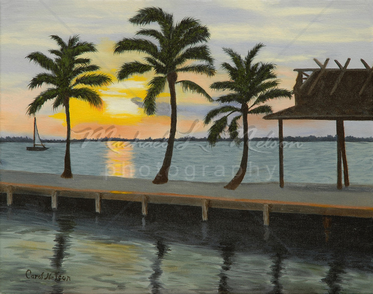 "<font size =5><b>""Perfect Sunset"" <font size =3></b>16""x20""  The original Oil Painting is not for sale; however prints are available for purchase.  *Lustre Print on Kodak Professional Paper 16""x20"" only $53.95 8""x10"" only $17.50  *Giclee Print on 16""x20"" rolled canvas $124.95  *Giclee Print on 16""x20"" mounted canvas $224.95  Metallic prints are available in 8x10 and 16x20"